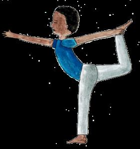Yogaübung Tänzer