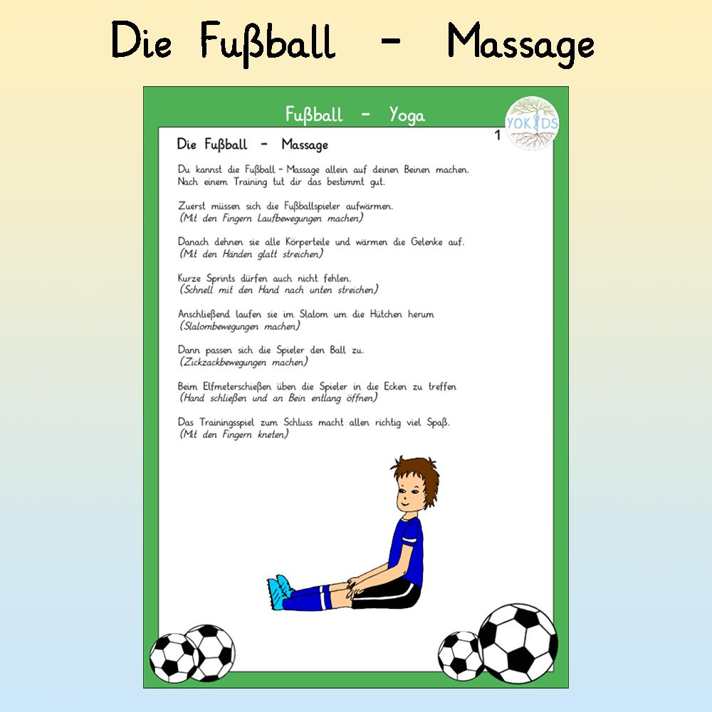 Fußball Massage