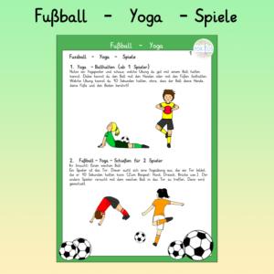 Fußball Yoga Spiel
