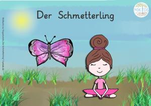 Yoga zum Thema Schmetterling