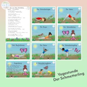 Yogastunde Schmetterling Bildkarten