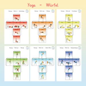 Yogawürfel mit Asanas