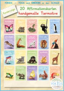 20 Affirmationskarten für Kinder