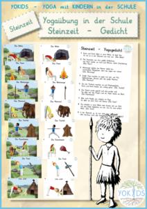 Yogastunde - Gedicht mit Bildkarten