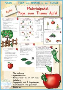 Materialpaket: Yoga zum Thema Apfel