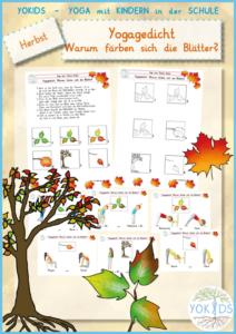 Yogagedicht | Warum färben sich die Blätter? Yogaübungen für zu Hause / Schule / Kinderyoga